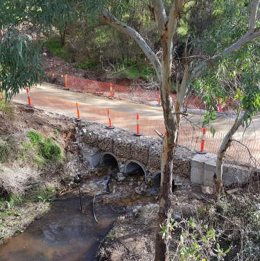 White bridge restoration works