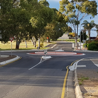 Farnsworth drive roundabout upgrade